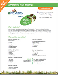 Math alive Brochure