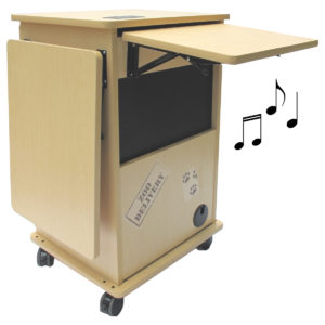 zoo cart with shelf and sound