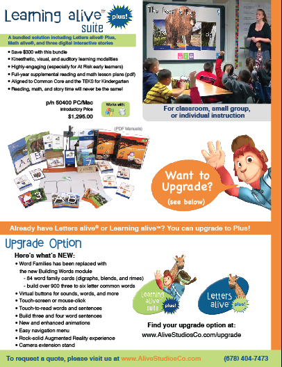 Learning alive Plus Flyer