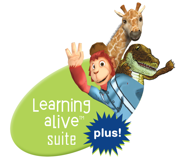 Learning alive plus logo