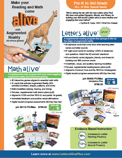 Letters alive Plus Flyer