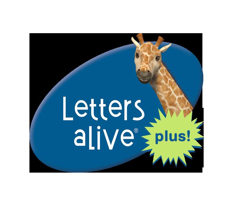 Letters alive plus logo