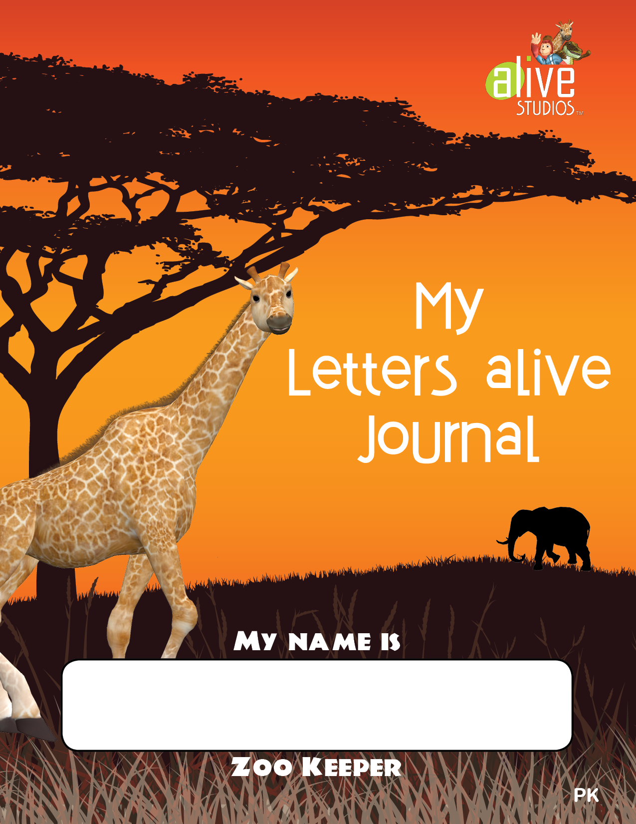my letters alive journal - prek