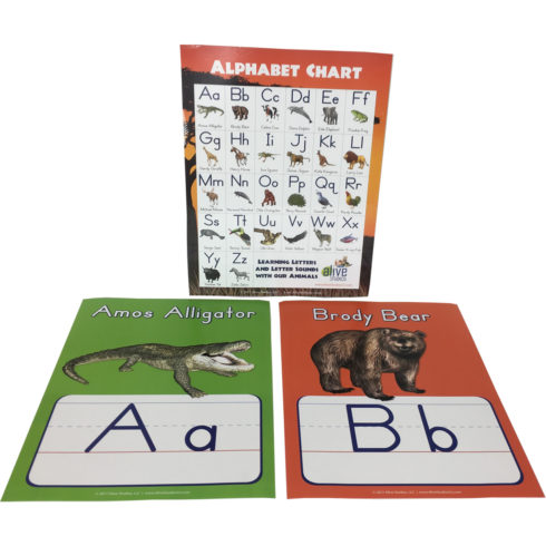 alphabet poster set with animals