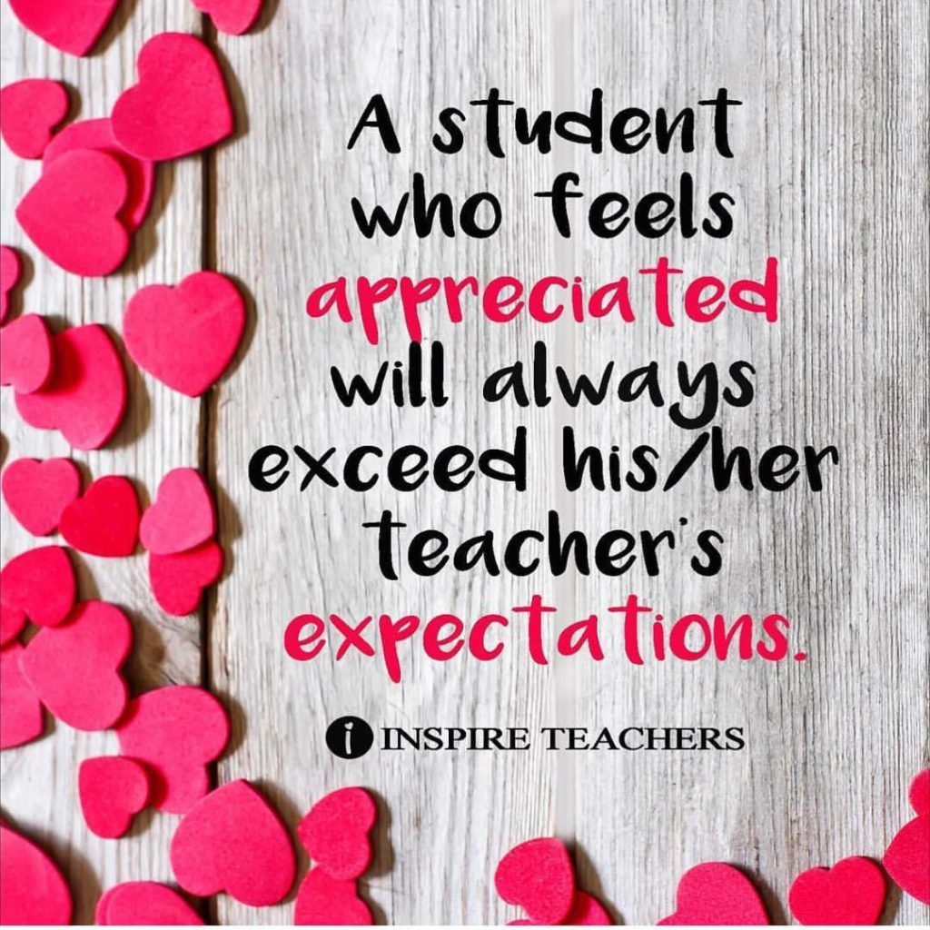 Making your students feel Specialwill help them go the extrahellip