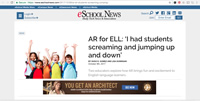 eSchool News - AR for ELL