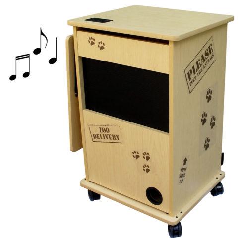 teacher cart front sound