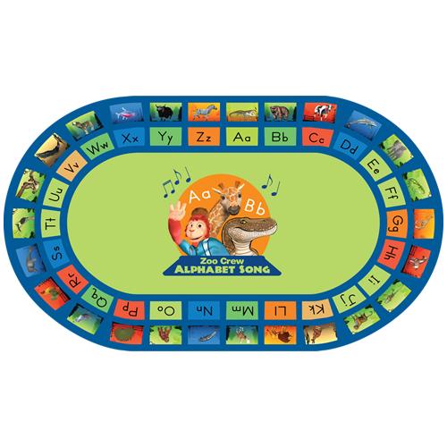 Zoo Crew Classroom Alphabet Rug