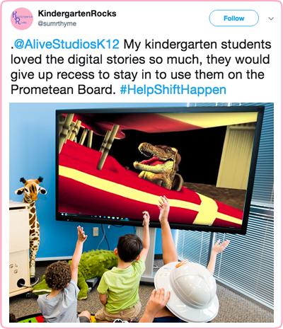 kindergarten rocks social post digital stories