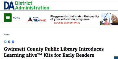 Gwinnett County Public Library Introduces Learning alive