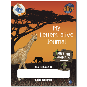 alphabet letters activity book with 3D AR animals