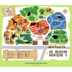 alive studios zoo map